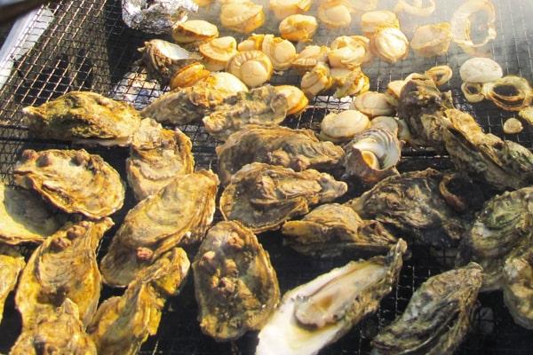 イベントの海鮮バーベキュー
